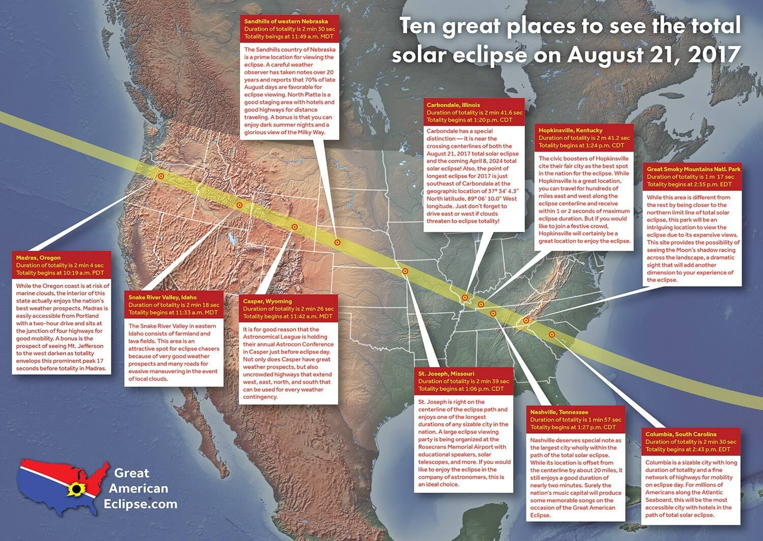 Eclipse Expected To Bring Thousands To Area DOT Encourages - Interactive us map county influx